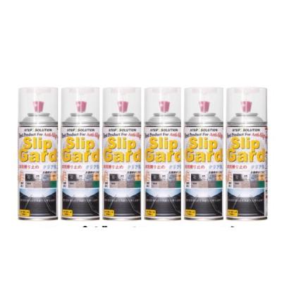 滑り止めスプレー スリップガード すべり止め 床用 クリア色 300ml/缶 6缶/箱 1m2/缶 石材 タイル 縞鋼板 STEPSOLUTION