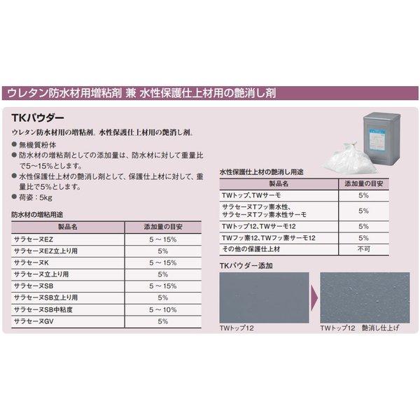 サラセーヌTKパウダー 増粘剤 仕上げ材 5kg/缶 AGCポリマー建材 tkパウダー 増粘用添加剤 水性仕上げ材 艶消し剤