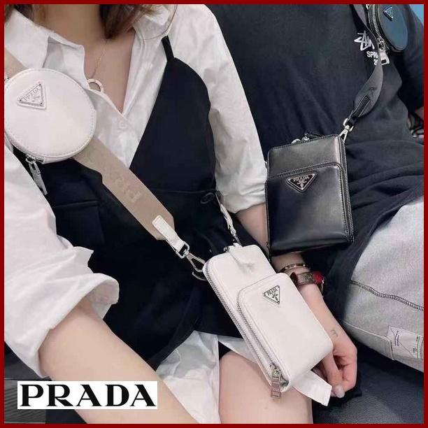 PRADA プラダ【送料無料】 高品質  多目的ポシェット/メッセンジャーバッグ  男女兼用     2カラー サイズ: 18x12 【2021/03/25*205】 商品コード:GEKIYASU L-004576