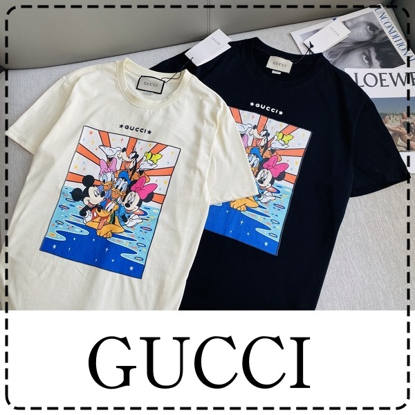 GUCCI グッチ【送料無料】 ディズニーTシャツ   男女兼用   2カラー サイズ: S~XL  【2021/02/19*70】 商品コード:GEKIYASU L-004351