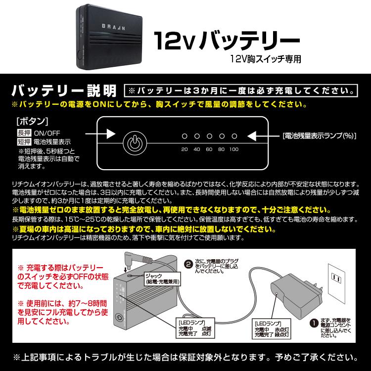 BR-382 12V胸スイッチ式用ファンユニット 【対応品番】BR-1201、BR-1202、BR-1203