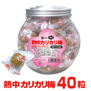 BR-CU50 [種あり]熱中カリカリ梅 40粒入ボトルタイプ