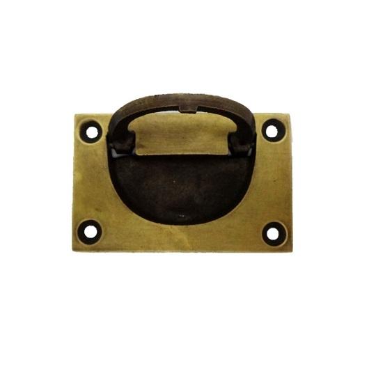 真鍮 アンティークゴールド 埋め込み取っ手H003