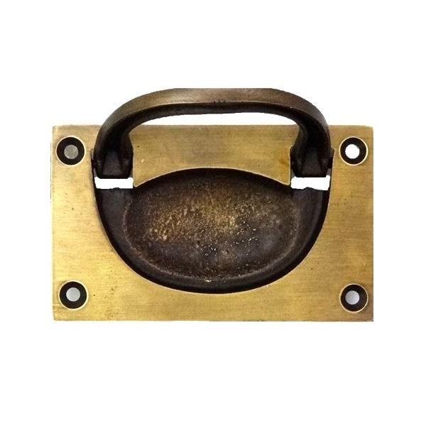 真鍮 アンティークゴールド 埋め込み取っ手H005