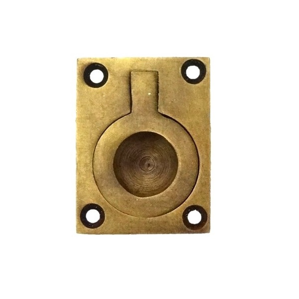 真鍮 アンティークゴールド 埋め込み取っ手H006