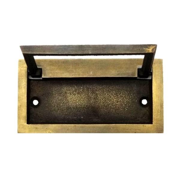 真鍮 アンティークゴールド 埋め込み取っ手H025