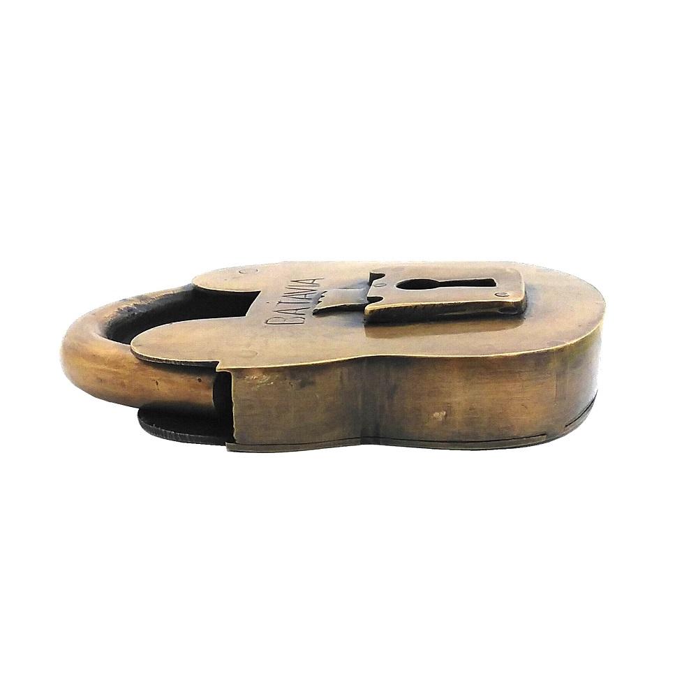 真鍮 アンティークゴールド 錠前 X034