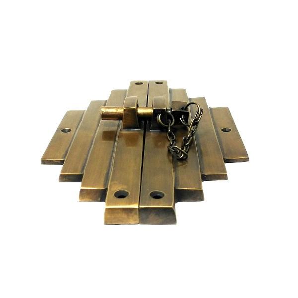 真鍮 アンティークゴールド 留め金具Q054