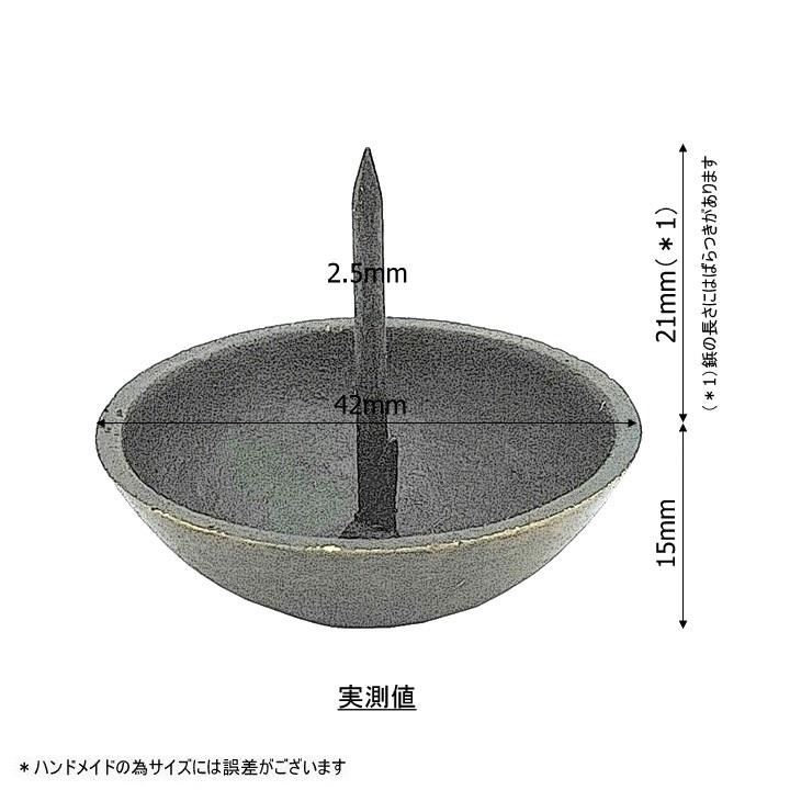 真鍮 アンティークゴールド 太鼓鋲AA052