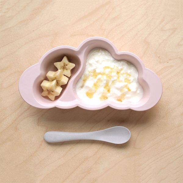 10mois mamamanma(マママンマ) おしょくじプレート + ビブセット / ピンク