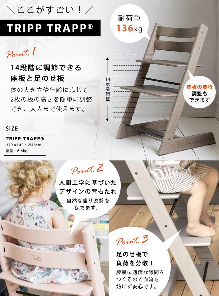 【5月下旬頃より順次発送】STOKKE ストッケ トリップトラップ / ブラック