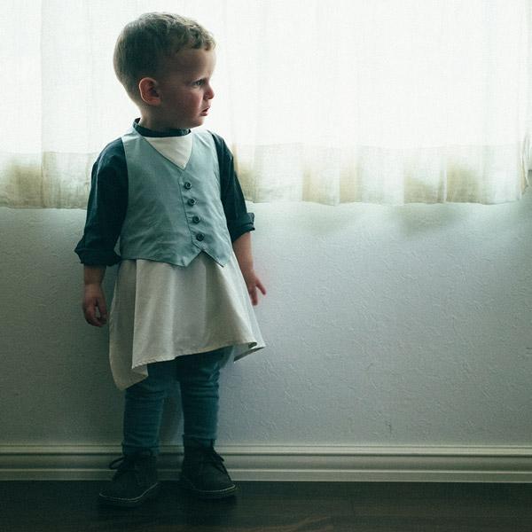 MARLMARL マールマール エプロン+ビブセット for boys / セイジ