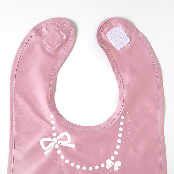 10mois おしょくじ2点セット 袖なし ピンク (マママンマ プレートセット+お食事ポーチロン 袖なし)