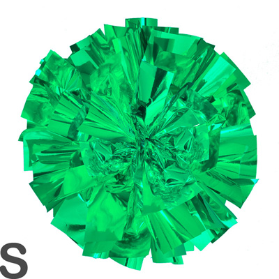 Sサイズ 単色ポンポン 緑 持ち手ひも付