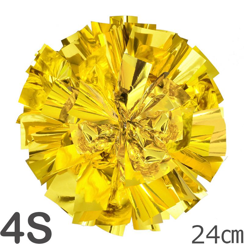 4Sサイズ 単色ポンポン 金(ゴールド) 持ち手ひも付