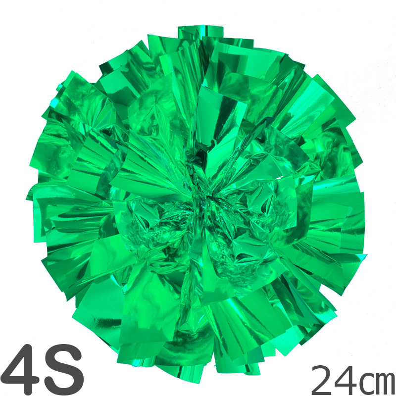 4Sサイズ 単色ポンポン 緑 持ち手ひも付