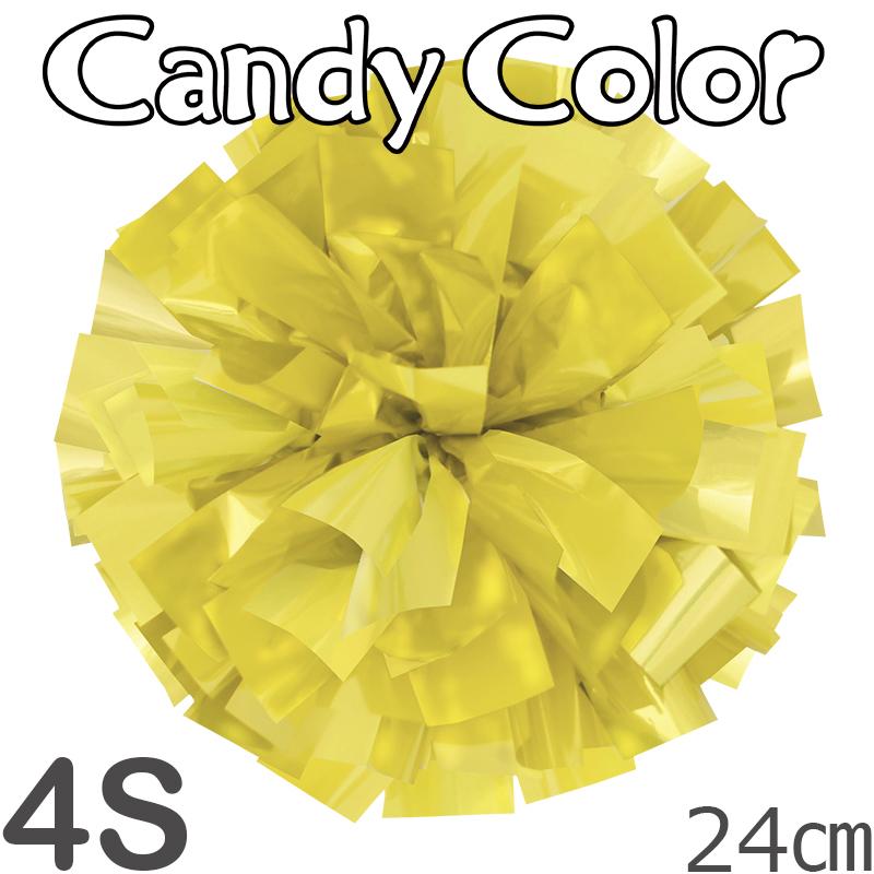 4Sサイズ 単色ポンポン キャンディーイエロー 持ち手ひも付