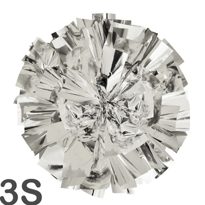 3Sサイズ 単色ポンポン 銀(シルバー) 持ち手ひも付