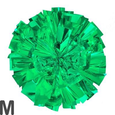 Mサイズ 単色ポンポン 緑 持ち手ひも付