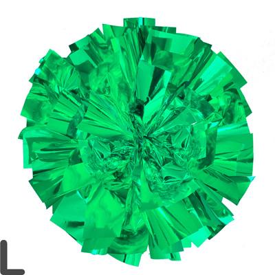 Lサイズ 単色ポンポン 緑 持ち手ひも付