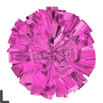 Lサイズ 単色ポンポン ピンク 持ち手ひも付