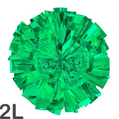 2Lサイズ 単色ポンポン 緑 持ち手ひも付