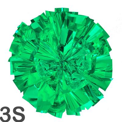 3Sサイズ 単色ポンポン 緑 持ち手ひも付