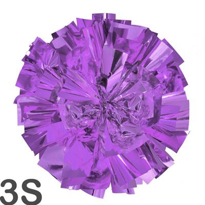 3Sサイズ 単色ポンポン 濃紫 持ち手ひも付