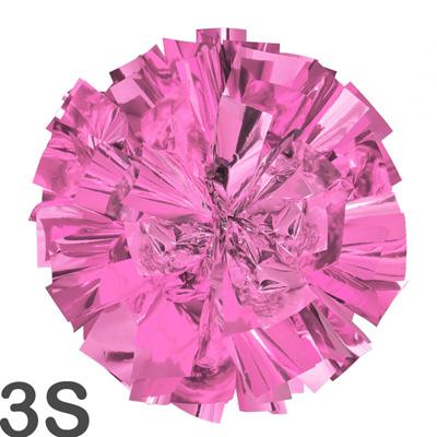 3Sサイズ 単色ポンポン うすピンク 持ち手ひも付