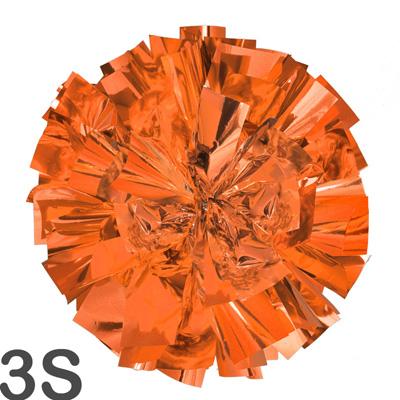 3Sサイズ 単色ポンポン オレンジ 持ち手ひも付