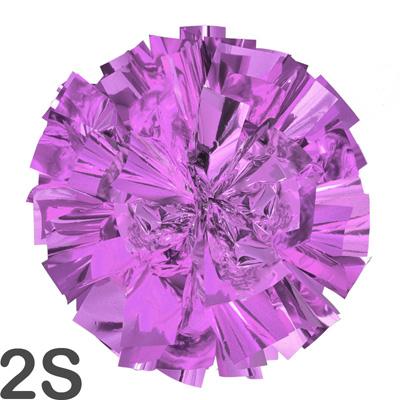 2Sサイズ 単色ポンポン 紫 持ち手ひも付
