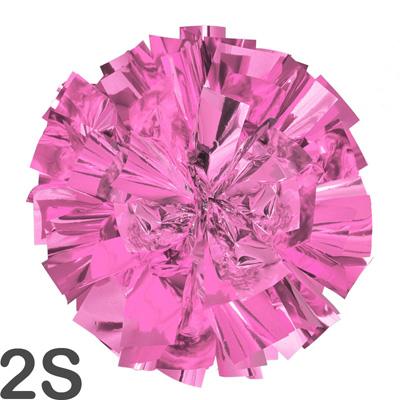2Sサイズ 単色ポンポン うすピンク 持ち手ひも付