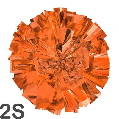 2Sサイズ 単色ポンポン オレンジ 持ち手ひも付