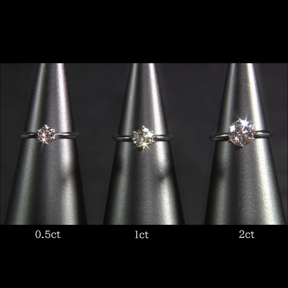 純プラチナ台大粒0.5ctシャンパンカラーダイヤモンドリング