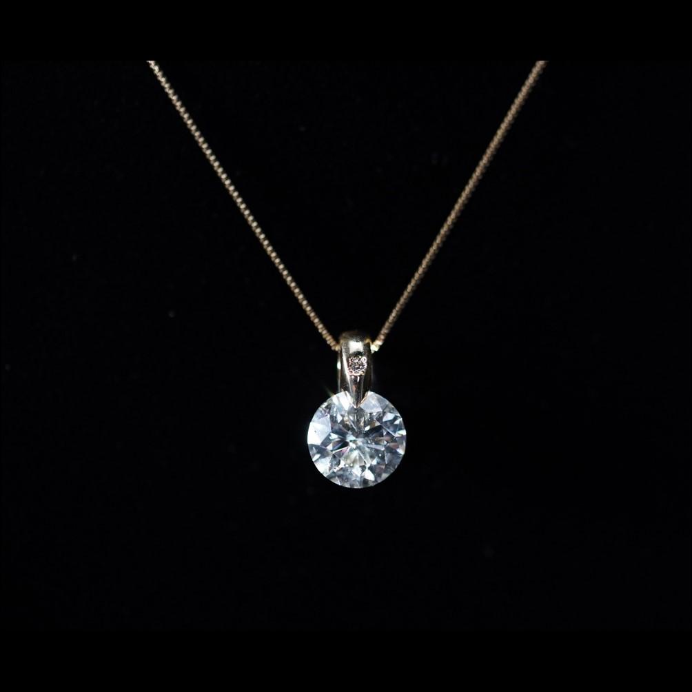 18金 エクセレントカット 1ct ダイヤペンダント
