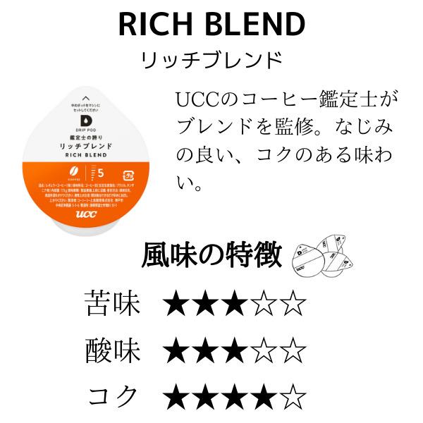 UCC  DRIP POD 鑑定士の誇りリッチブレンド【12P×12箱(144P入り)】