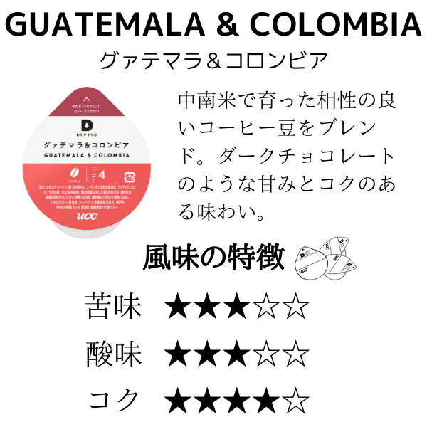 UCC  DRIP POD グァテマラ&コロンビア【12P×12箱(144P入り)】