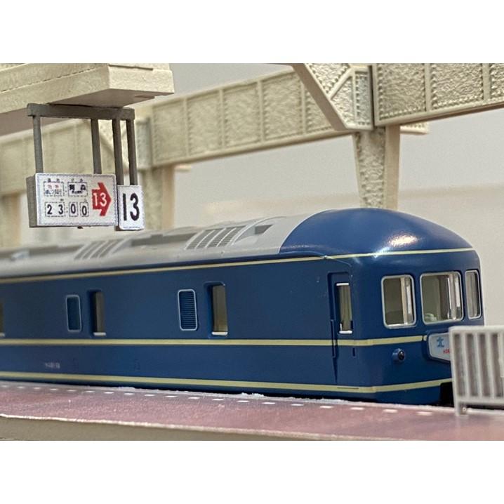 <限定10点>上野駅13番線ホーム展示台 (国鉄仕様) ※Nゲージサイズ