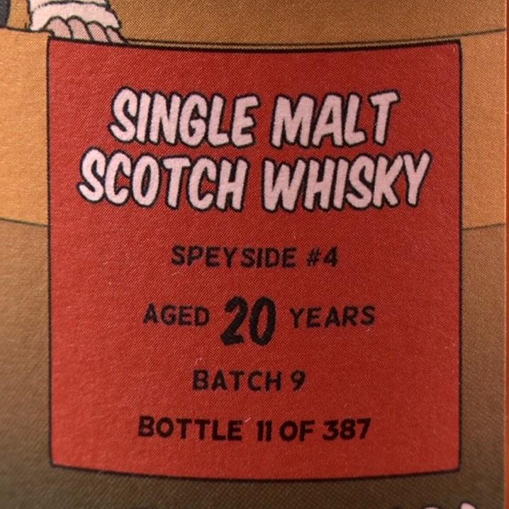 先行予約商品 <ウイスキー>Speyside #4 〔Secret Speyside〕 1998(20年)【限定387本・「ウイスキペディア」オリジナルボトル】