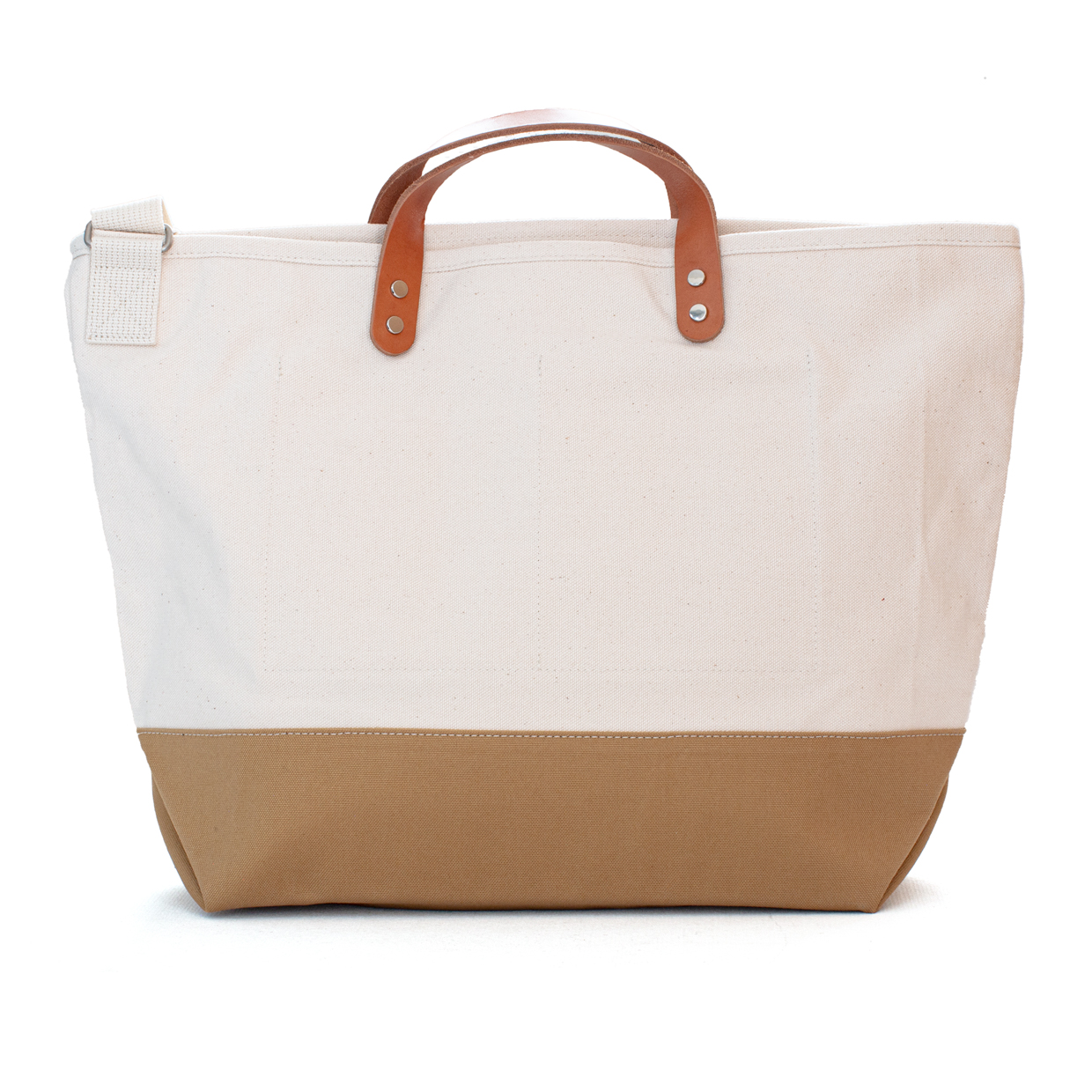 Collar Leather Tote Short