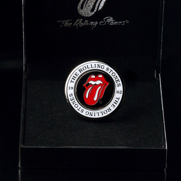 (The Rolling Stones GOLF) Metal marker (magnet type circle shape)