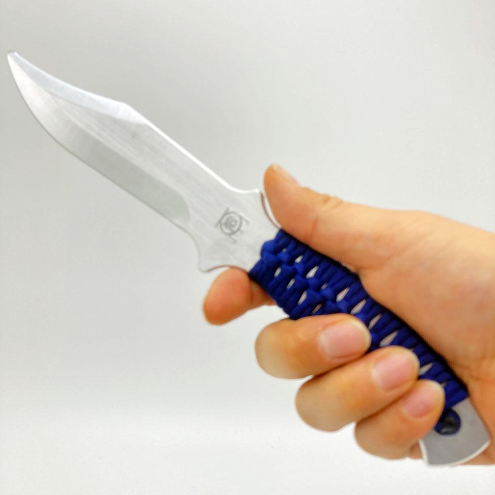 アルミ製トレーニングナイフ(中)24cm タクティカルナイフトレーナー Navy
