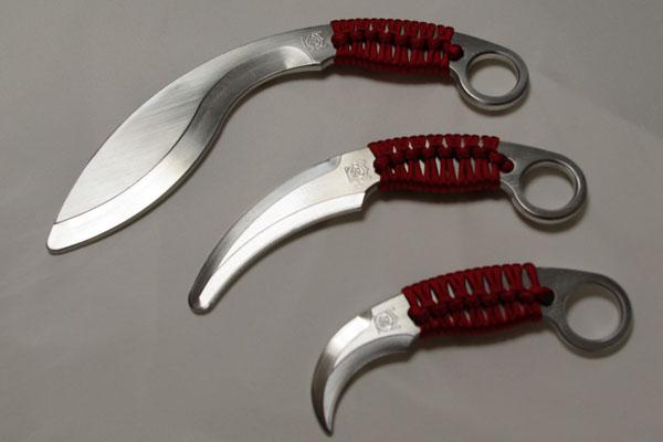 金属製カランビットトレーニングナイフ Kerambit ナイフトレーナー(中)