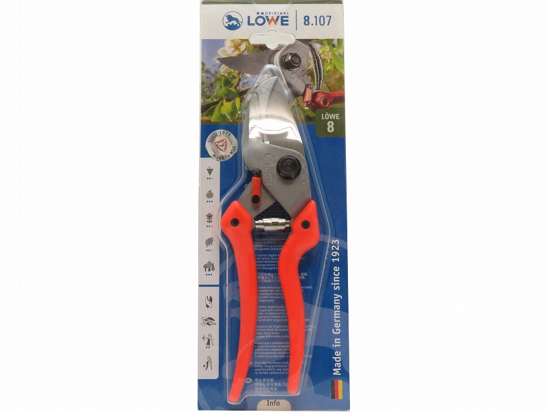 LOWE ライオン 剪定鋏 アンビル 8107 (Lサイズ)