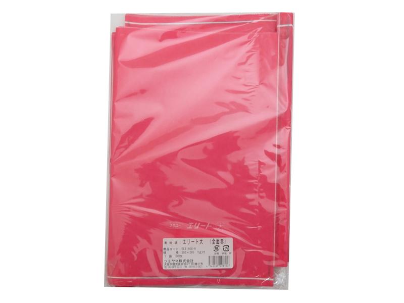 緑ぶどう 専用袋 大袋 赤 100枚入 (エリート大 赤) 205×295 (約500gぶどう用)