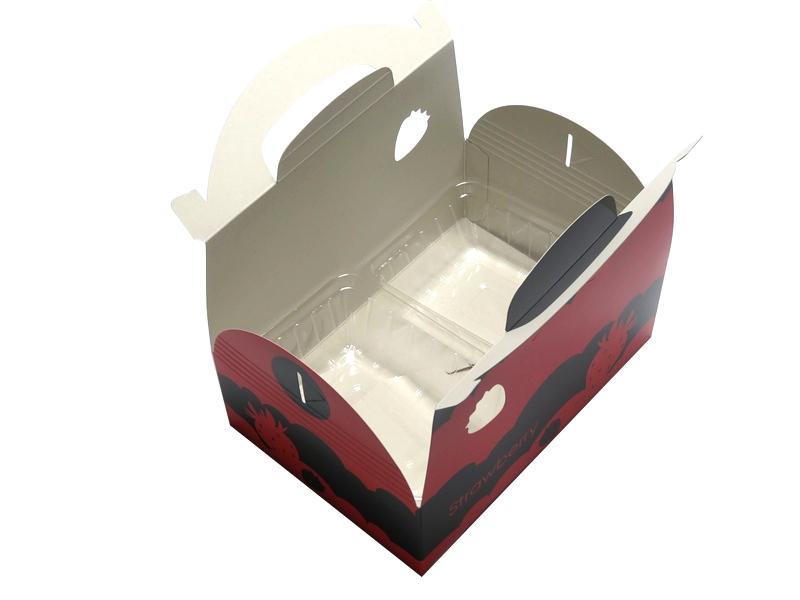 イチゴ 手さげ箱 2パックキャリー S-2 100枚/箱