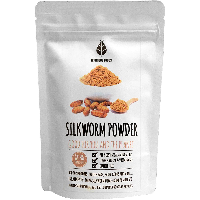 【賞味期限:2021.10.20まで!賞味期限間近の為50%OFF】Silkworm Pupae Powder 100g  (カイコさなぎパウダー100g)