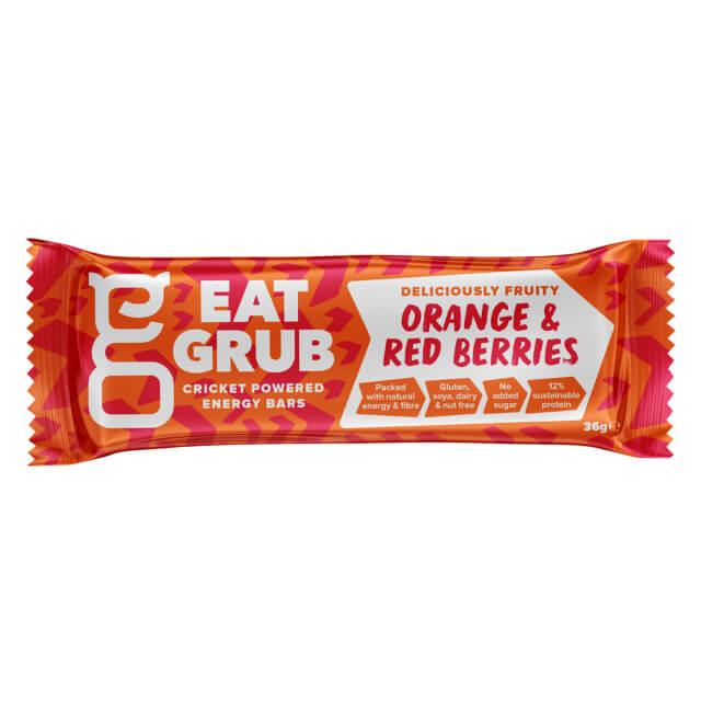 Eat Grub bar オレンジ&レッドベリー 1ケース12本入