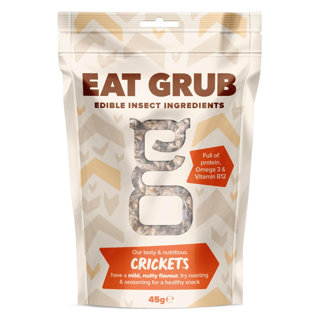 【消費期限間近の為50%OFF】Eat Grub クッキングシリーズBIG クリケット(コオロギ) 45g