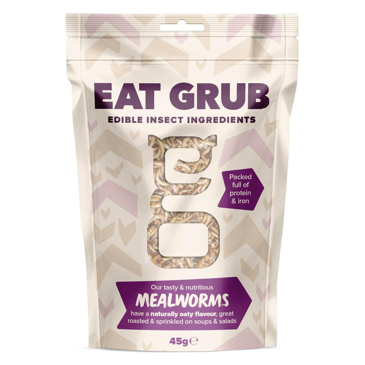 【賞味期限:2020.12.31まで!賞味期限間近の為50%OFF】Eat Grub クッキングシリーズBIG ミールワーム 45g